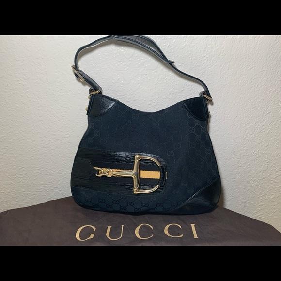 Gucci Handbags - Authentic Gucci Hasler horsebit shoulder bag GG